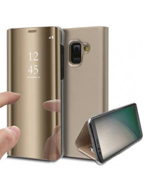 Husa Samsung Galaxy A7 2018 Clear View Gold