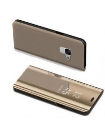 Husa Samsung Galaxy J6 2018 Flip Clear View Gold