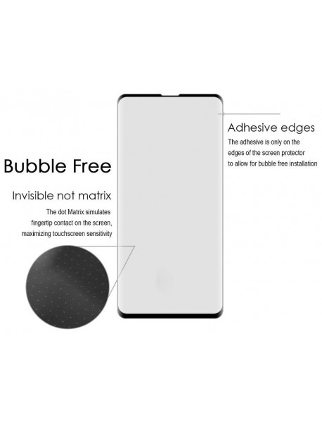 Folie Sticla Securizata 3D cu Adeziv pe Margine Samsung Galaxy A9s A920 Negru-Black