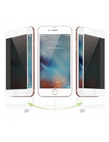 Folie Sticla Securizata Privacy 5D Tempered Glass Full Glue Apple iPhone 6  Alb-White
