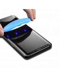 Folie Sticla Securizata curbata cu adeziv prin aplicare UV light Samsung Galaxy S8 Plus G955 Transparent-Transparent