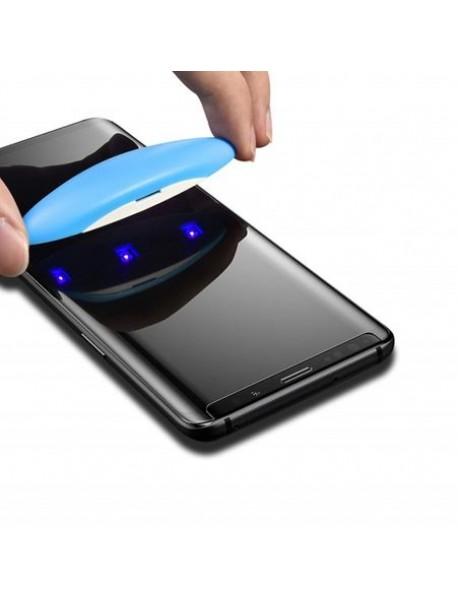 Folie Sticla Securizata curbata cu adeziv prin aplicare UV light Samsung Galaxy S10e G970 Transparent-Transparent
