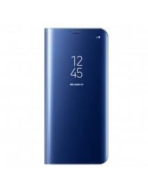 Husa Flip Stand Clear View Oglinda Samsung Galaxy J3 (2017) J330 Albastru-Blue