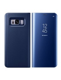 Husa Flip Stand Clear View Oglinda Samsung Galaxy S7 G930 Albastru-Blue