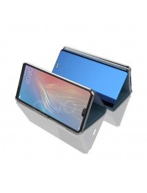 Husa Flip Stand Clear View Oglinda Huawei P20  Albastru-Blue