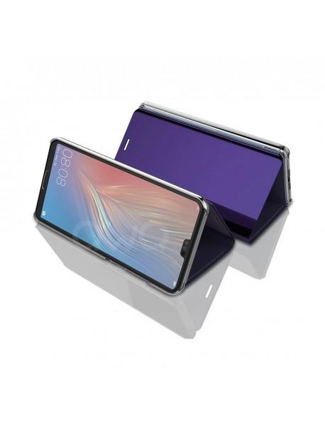 Husa Flip Stand Clear View Oglinda Huawei Mate 20 Lite  Mov-Purple
