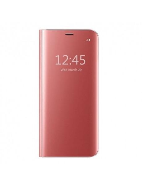 Husa Flip Stand Clear View Oglinda Huawei P Smart (2019)  Roz-Rose