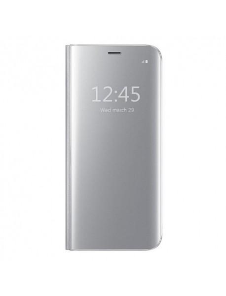Husa Flip Stand Clear View Oglinda Huawei Mate 20 Lite  Argintiu-Silver