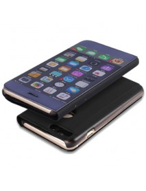 Husa Flip Stand Clear View Oglinda Apple iPhone 6  Negru-Black