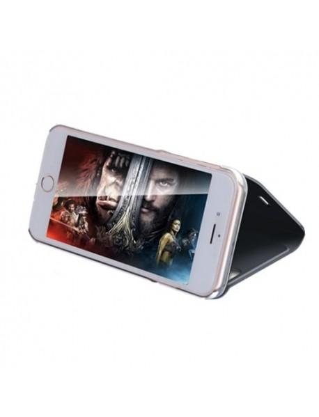 Husa Flip Stand Clear View Oglinda Apple iPhone 6s Plus  Negru-Black
