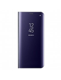 Husa Flip Stand Clear View Oglinda Samsung Galaxy J7 (2017) J730 Mov-Purple
