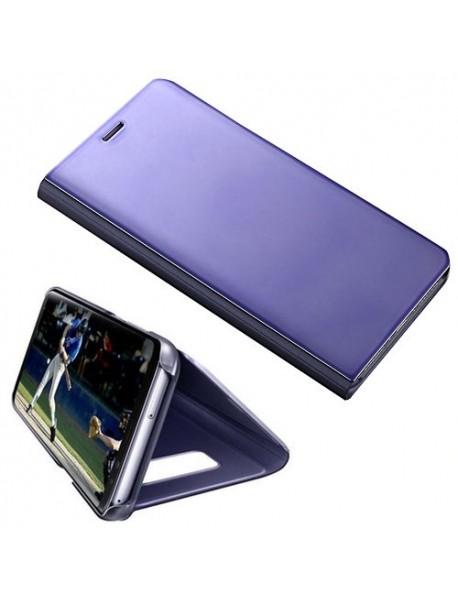 Husa Flip Stand Clear View Oglinda Samsung Galaxy J4 Plus J415 Mov-Purple