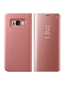 Husa Flip Stand Clear View Oglinda Samsung Galaxy Note 9 N960 Roz-Rose
