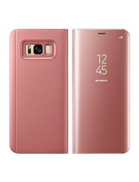 Husa Flip Stand Clear View Oglinda Samsung Galaxy S10e G970 Roz-Rose
