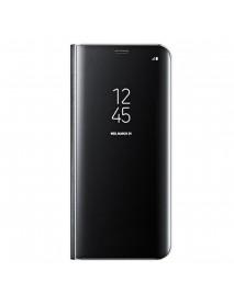 Husa Flip Stand Clear View Oglinda Samsung Galaxy A8 2018 A530 Negru-Black