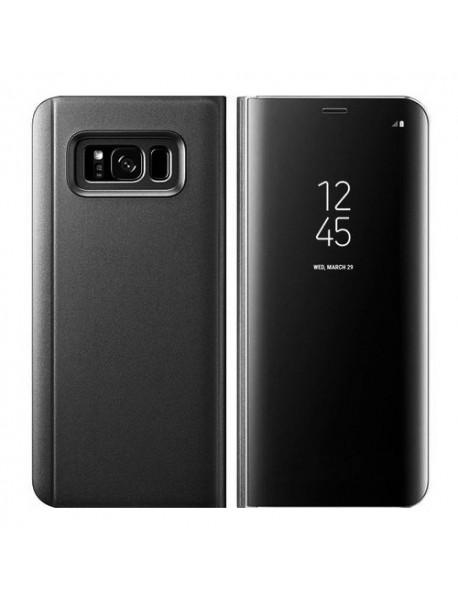 Husa Flip Stand Clear View Oglinda Samsung Galaxy J7 2018 J737 Negru-Black