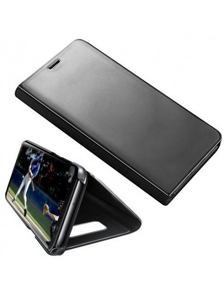 Husa Flip Stand Clear View Oglinda Samsung Galaxy J7 Pro J730 Negru-Black