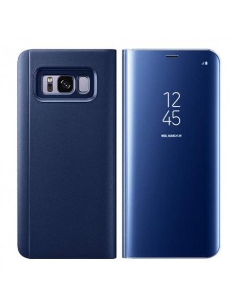 Husa Flip Stand Clear View Oglinda Samsung Galaxy A9 Star Lite A605 Albastru-Blue