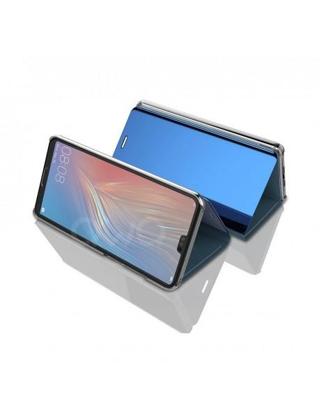 Husa Flip Stand Clear View Oglinda Huawei Mate 20 Lite   Albastru-Blue