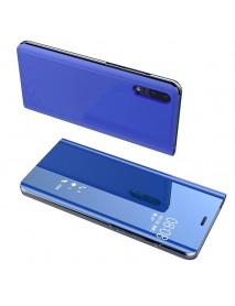 Husa Flip Stand Clear View Oglinda Huawei P Smart Plus 2019  Albastru-Blue