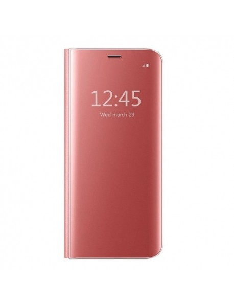 Husa Flip Stand Clear View Oglinda Huawei Mate 20 Pro  Roz-Rose