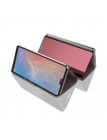 Husa Flip Stand Clear View Oglinda Huawei P Smart 2019  Roz-Rose