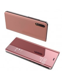 Husa Flip Stand Clear View Oglinda Huawei P20  Roz-Rose