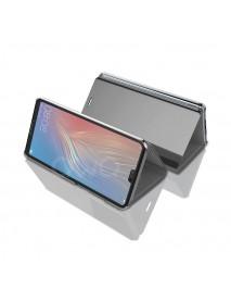 Husa Flip Stand Clear View Oglinda Huawei P Smart 2019  Argintiu-Silver