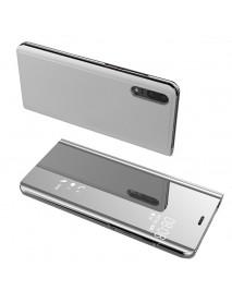 Husa Flip Stand Clear View Oglinda Huawei P20 Lite  Argintiu-Silver