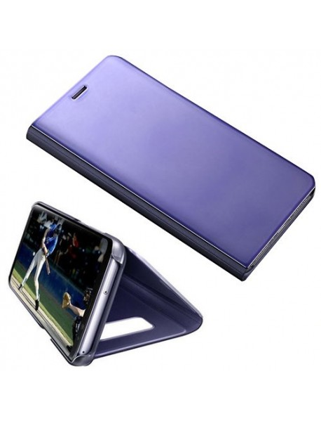 Husa Flip Stand Clear View Oglinda Samsung Galaxy J7 2017 J730 Mov-Purple