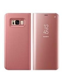 Husa Flip Stand Clear View Oglinda Samsung Galaxy S8+ Plus G955 Roz-Rose
