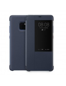 Husa Flip Book Smart View Cover Compatibila Huawei Mate 20 Pro  Bleumarin-Blue