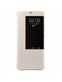 Husa Flip Book Smart View Cover Compatibila Huawei Mate 20 Pro  Auriu-Gold