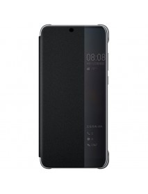 Husa Flip Book Smart View Cover Compatibila Huawei Y9 (2018)  Negru-Black