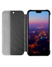 Husa Flip Book Smart View Cover Compatibila Huawei Y6 (2018)  Negru-Black