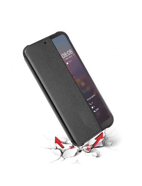 Husa Flip Book Smart View Cover Compatibila Huawei Y9 (2018)  Negru-Black