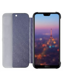 Husa Flip Book Smart View Cover Compatibila Huawei Y9 (2018)  Bleumarin-Blue