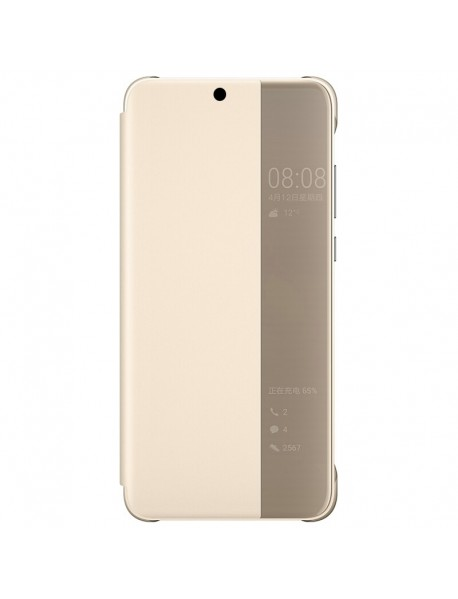 Husa Flip Book Smart View Cover Compatibila Huawei Y9 (2018)  Auriu-Gold