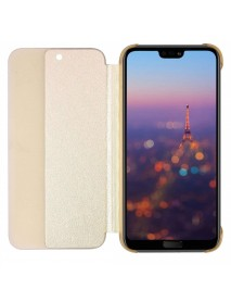 Husa Flip Book Smart View Cover Compatibila Huawei Y6 (2018)  Auriu-Gold