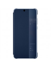 Husa Flip Book Smart View Cover Huawei Y6 2018   Bleumarin-Blue