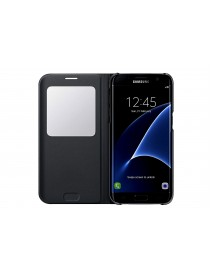Husa Flip Carte S-View Cover  Samsung Galaxy A5 2018  Negru-Black