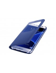 Husa Flip Carte S-View Cover Samsung Galaxy S7 Edge G935 Bleumarin-Blue