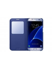 Husa Flip Carte S-View Cover  Samsung Galaxy A5 2018  Bleumarin-Blue