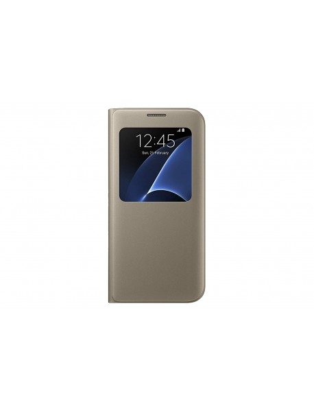 Husa Flip Carte S-View Cover  Samsung Galaxy A8 2018 A530 Auriu-Gold