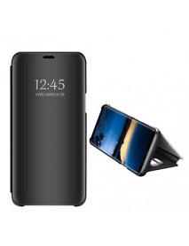 Husa Samsung Galaxy J4+ ( J4 Plus) 2018 Clear View Flip Mirror Stand, Neagra